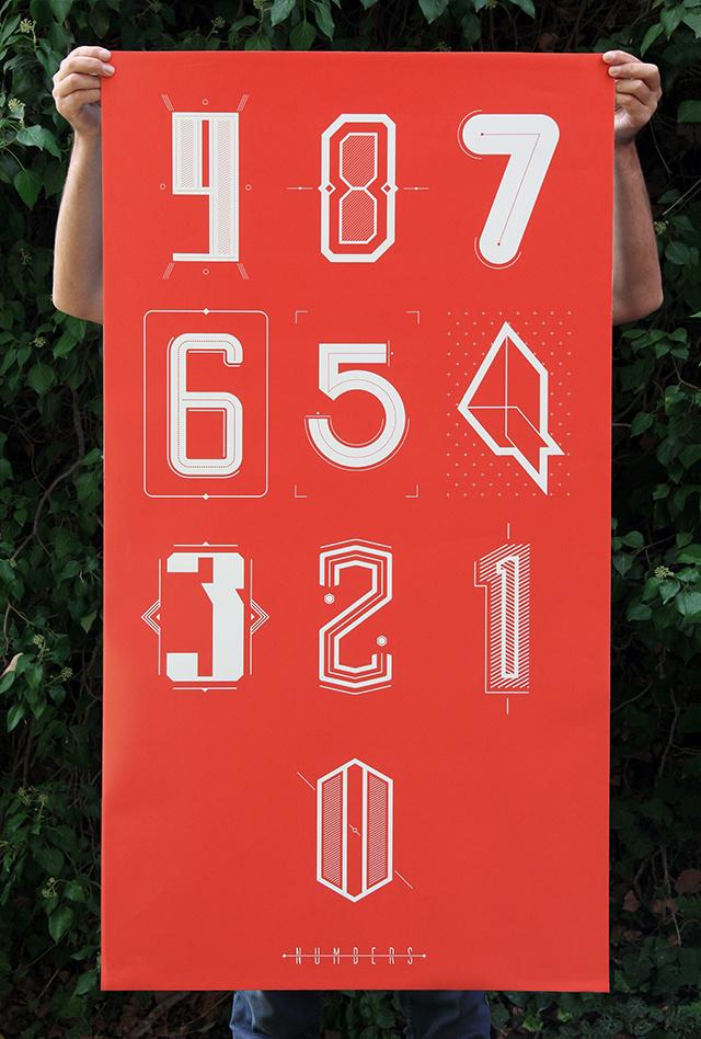 Numbers - Gökhan Önceltekin #numbers #lettering #poster #typography