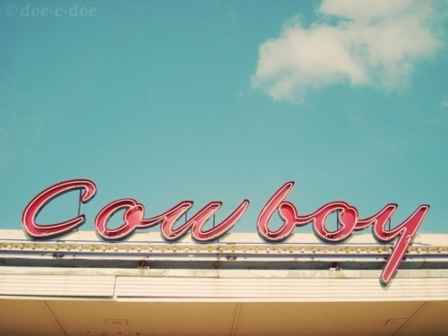 Typeverything.com -Â cowboy cleaners sign - Typeverything #front #script #store #photography #typography