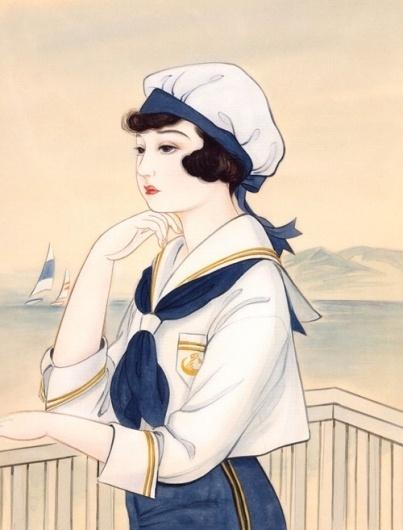 Gurafiku: Japanese Graphic Design #girl #sailor #illustration #art #japan