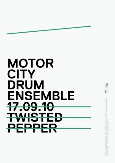 MOTOR CITY DRUM ENSEMBLE - James Cullen | Graphic Designer #design #graphic #poster #typography
