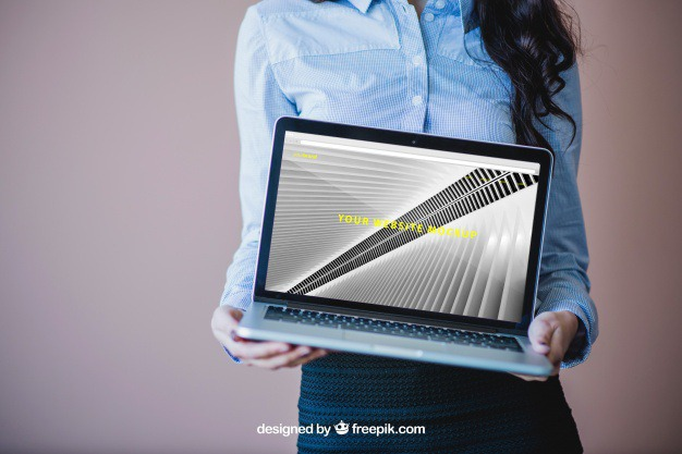 Businesswoman holding laptop Free Psd. See more inspiration related to Mockup, Business, Technology, Computer, Woman, Laptop, Presentation, Notebook, Elegant, Present, Mock up, Success, Modern, Open, Show, Display, Business woman, Screen, Up, Successful, Computer screen, Businesswoman, Holding, Mock, Presenting and Showing on Freepik.