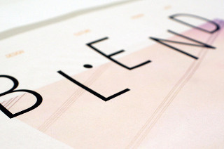 Blend Magazine | beckasaville.com #type #design #editorial #typography