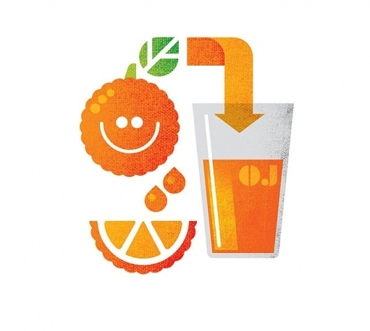 Graphic-ExchanGE - a selection of graphic projects #orange #texture #juice