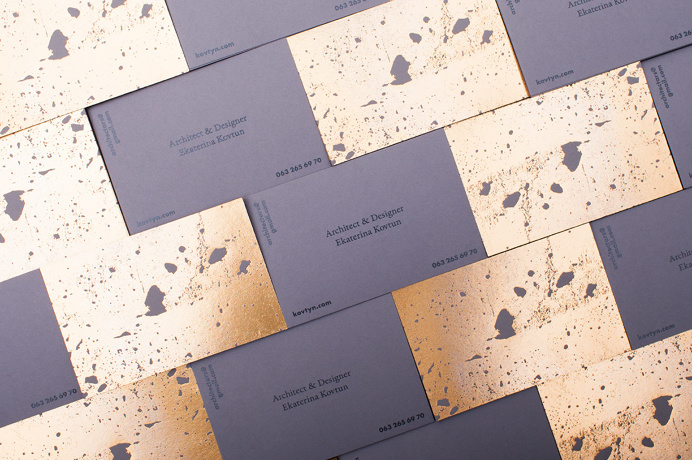golden concrete business card architecture gold architect best modern minimal structure beton foil print printing technique beautiful design