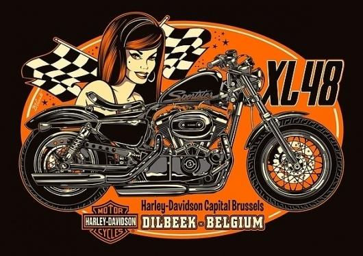 02c89307c6ea2c3933cdc5d7a1ebd6b2.jpg 600×424 pixels #girl #harley #vicente #bike #davidson #david