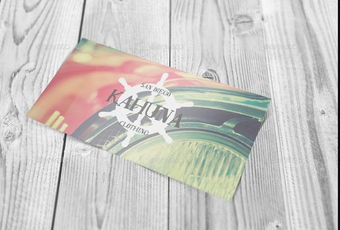 Postcard Invitation Card Mockup PSD