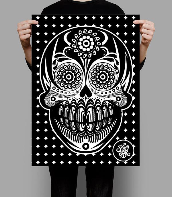 METODO DE DIBUJO MEXICANO... on Behance #mexicano #dibujo #white #vectors #draw #sadik #mexico #freestyle #guanajuato #black #mexican #metodo #and #skull #style