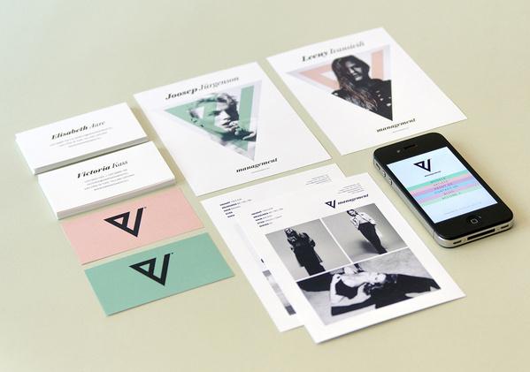 V Management on Branding Served #identity #stationery