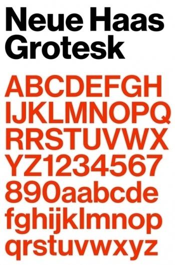 Neue Haas Grotesk   AisleOne #font #neue #helvetica #grotesk #haas #typography