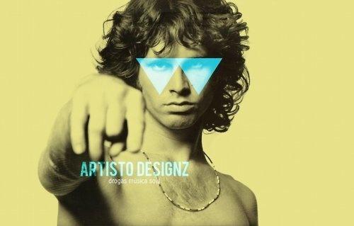Tripped Jim #jim #morrison #pop #design #retro #minimal #poster #art