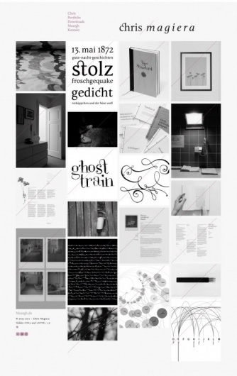 Chris Magiera on Grid Based #website #design #graphic #black