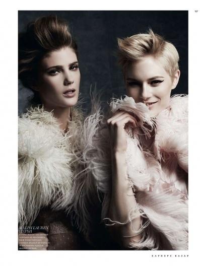 Lindsay Lullman & Louise Donegan by Natalia Alaverdian for Harper's Bazaar Russia #fashion #photography #colors