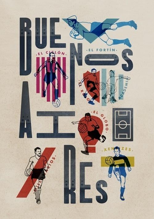 Buenos Aires Ciudad de Fútbol by Jorge Lawerta #design #graphic #typography