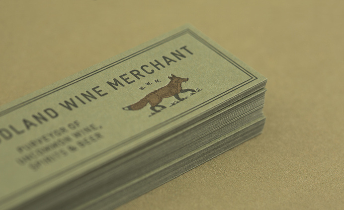 Woodland Wine Merchant #business #card #print #letterpress #stationery