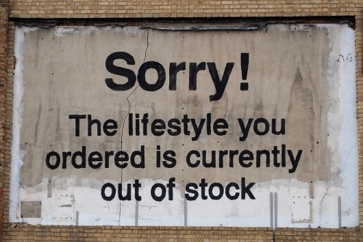 Banksy - Outside #banksy #art #street #humor #typography