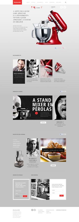 KITCHEN AID Caio Rogério #aid #red #kitchen #webdesign #photographics #grey