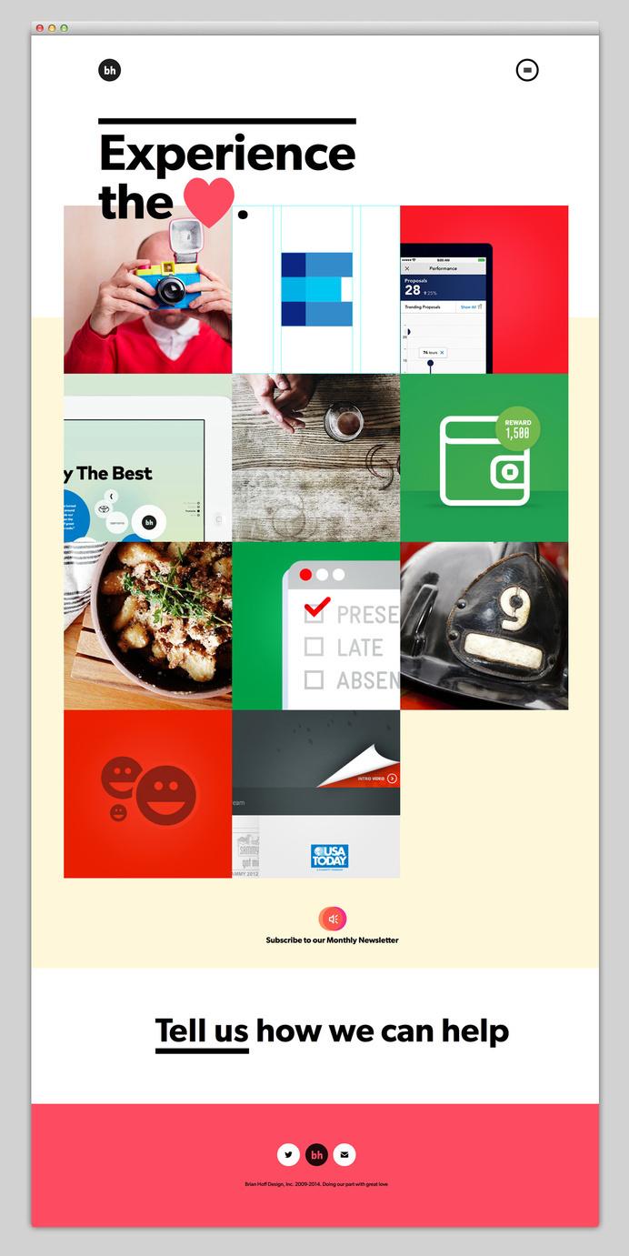 Brian Hoff Design website #ux #portfolio #hoff #design #website #brian