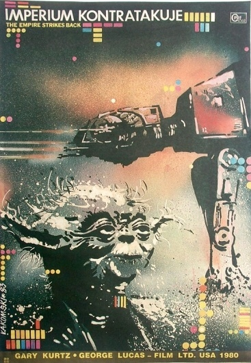 Sci-Fi-O-Rama / Science Fiction / Fantasy / Art / Design / Illustration #empire #at #yoda #strikes #back #european #80s #poster