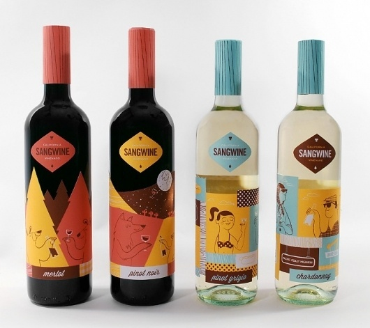 Sangwine - Lydia Nichols #packaging #illustration #design #package
