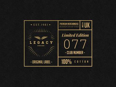 LEGACY Cap Co. // Badge Design 2 #logomark #badge #apparel #branding #retro #texture #brand #identity #gold #logo #trend #style