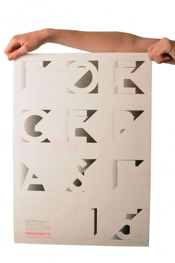 Toegepast 15   Slanted - Type Weblog and magazine #print #poster #typography