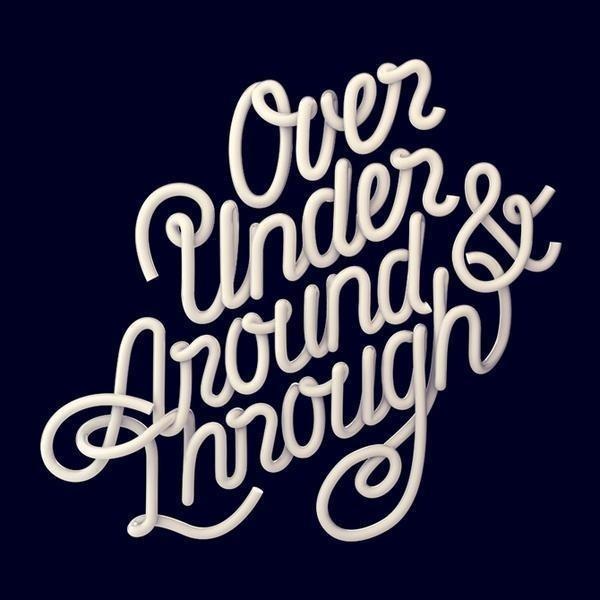 Beautiful Typography Artwork by David McLeod #typography