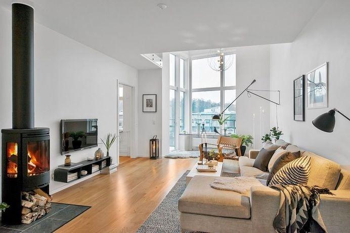 Lovely Scandinavian Duplex Inspiring a Calm and Welcoming Ambiance #interior #design #living #room