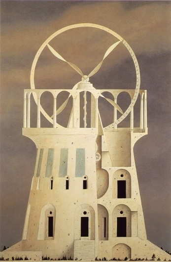 The Architect of Ruins - but does it float #minoru #architecture #painting #nomata
