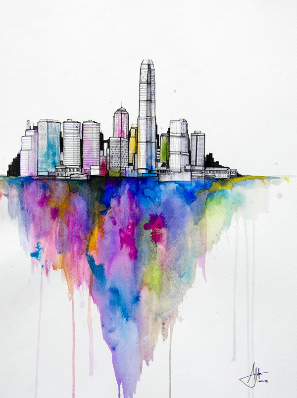 CJWHO ™ (Watercolors by Marc Allante Hong Kong born...) #marc #allante #design #illustration #art #watercolor