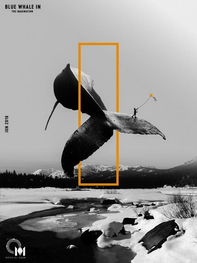 Imagination whale   Poster Design