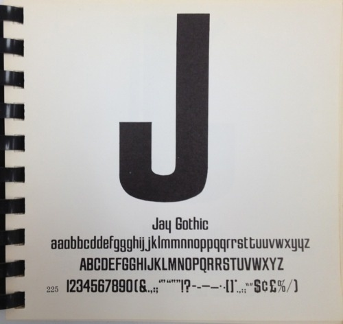 Daily Type Specimen | Jay Gothic is another I know nothing about. URW++... #typography