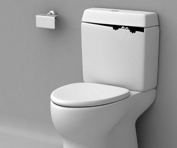 Toilet Monster Bathroom Wall Decal Sticker #decal #gadget #ticker