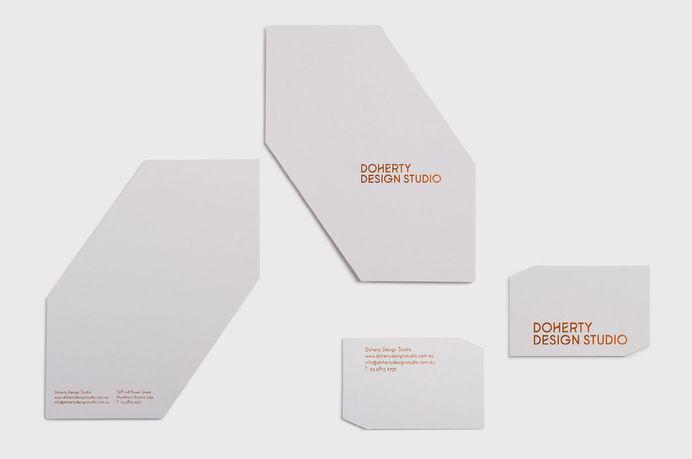 Doherty Design Studio #die #stamp #cut #business #card #print #foil