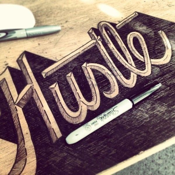 Hustle by Jeremy Teff #lettering #hand #typography