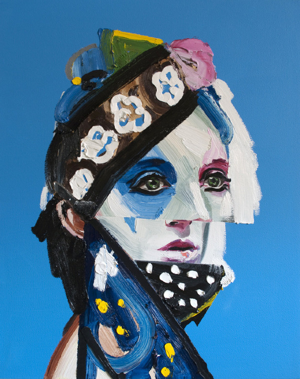 Dancer - Erik Olson #portrait #geometry #painting #dancer