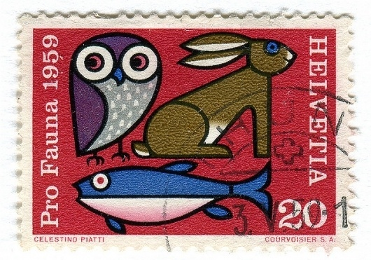 Gorgeous Vintage Swiss Stamps from the 1940s-1970s   Brain Pickings #stamps #swiss #vintage