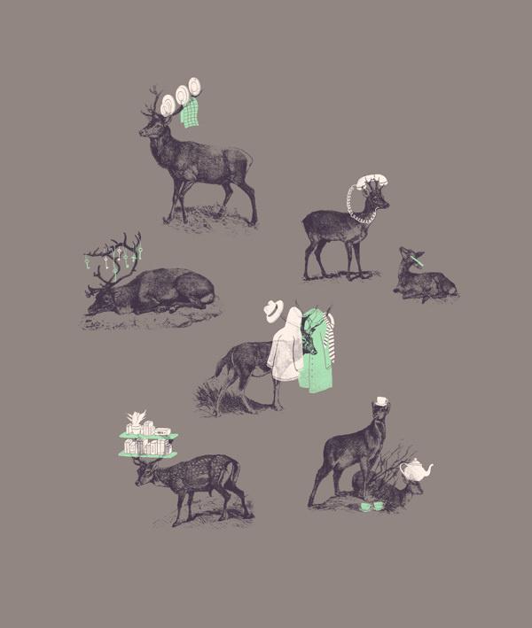 Jacques Maes Illustration on Behance #illustration #deer #poster