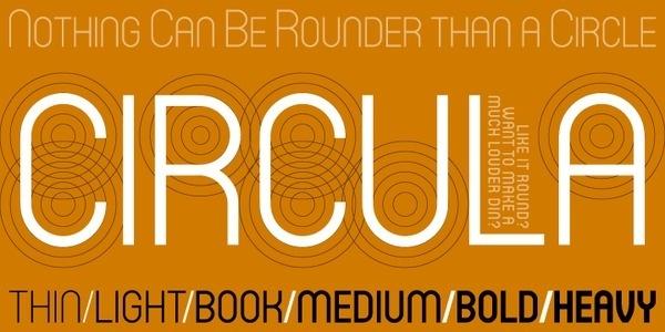 Circula™ Webfont #circles #typography