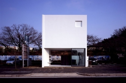 House in Nagoya by SUPPOSE design office | Yatzer™ #stairs #architecture #white #facades
