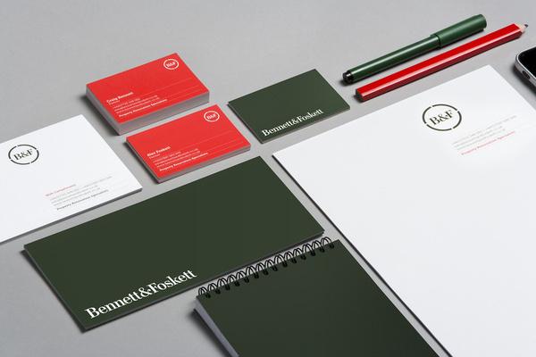 Bennett_Foskett_closeup #branding #stationery