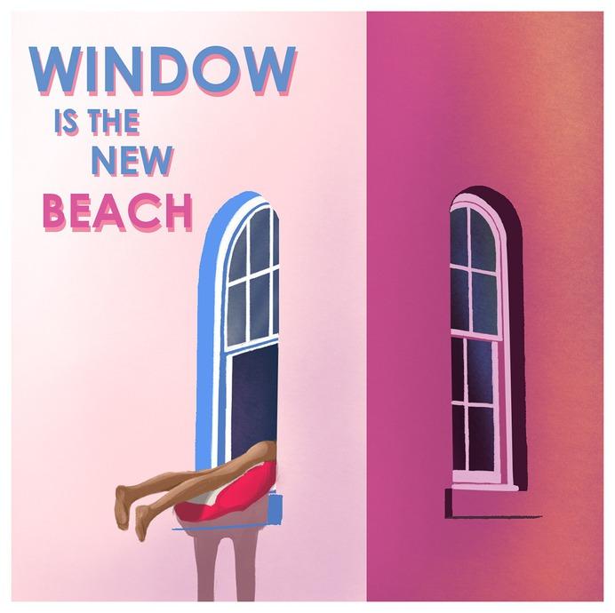window is the new beach illustration quarantine apartment tanning