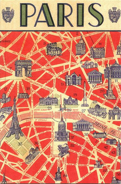 paris postcard #france #postcard #paris #typography
