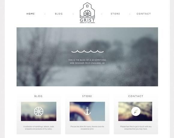 Clean, simple web design #web