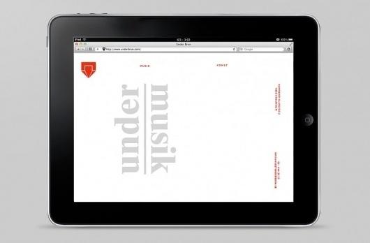 Under Bron | johan hammarström #digital #homepage #web