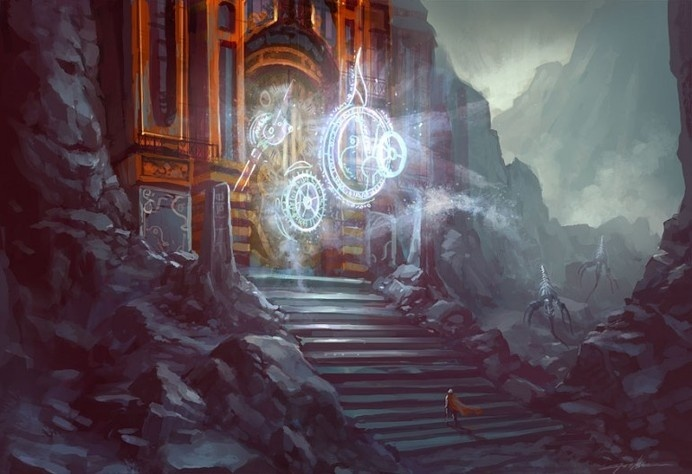 and the gate opens.. by Tonyholmsten #illustration #concept #art
