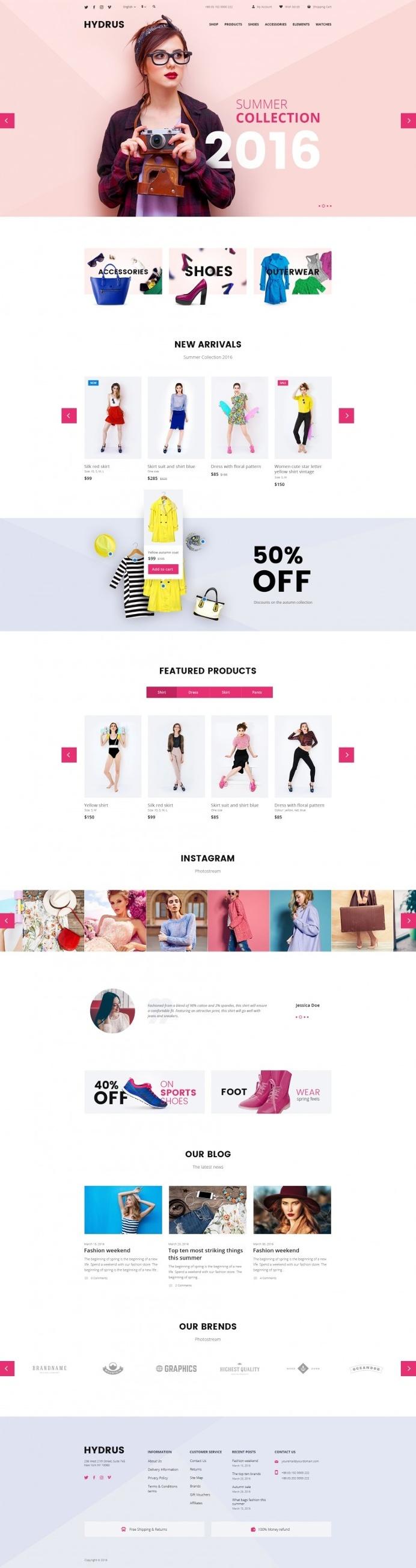 Hydrus – Fashion eCommerce