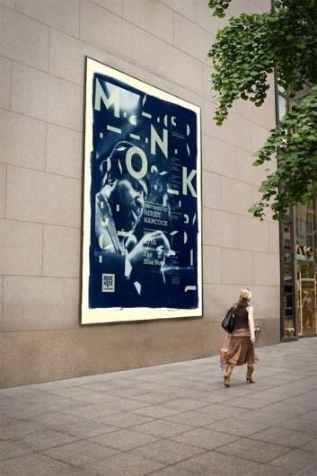 Design Work Life » cataloging inspiration daily #thelonius #note #monk #poster #blue