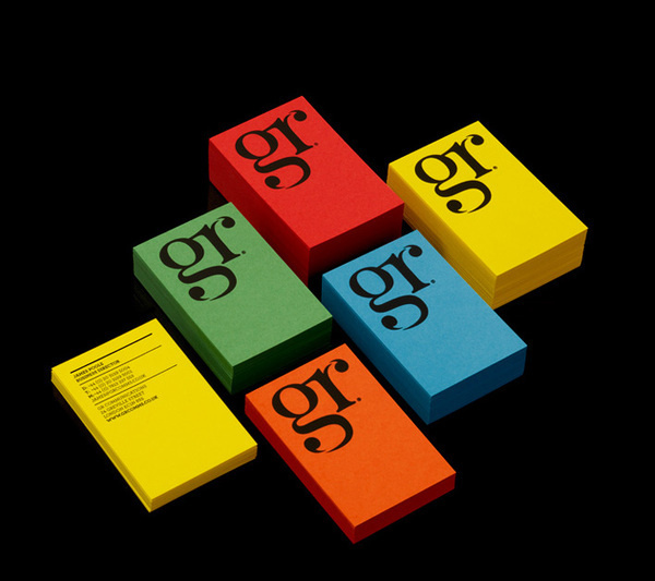 GR Communications Business cards #colourful #business #branding #pr #cards