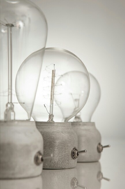 Concrete Light #glass #bulb #light #lightbulb