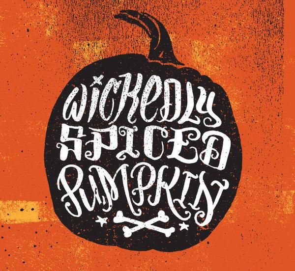 detail #pumpkin #illustration #drawn #hand #typography